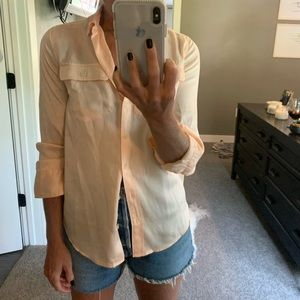 J. Crew Blythe silk blouse peach 00